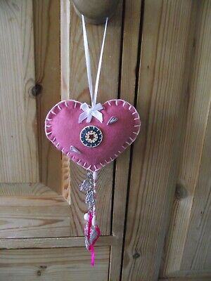 Pink Felt Door Hanging Heart Ballet Shoes Tutu Bag Dance Feather Unwanted Gift • 4£