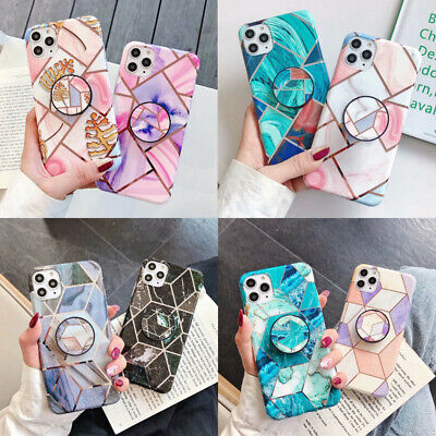 AU9.21 • Buy Case For IPhone 12 Pro Max 11 Pro XR XS 8 7 Marble Phone Cover With Ring Holder