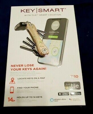 Key Smart With Tile Smart Location Pro Edition LED Light Gold Factory Brand New • 28.35£