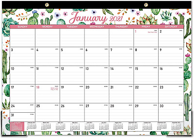£10.17 • Buy Monthly Desk Pad Calendar 12  X 17  White 2021/ 12Month Office Style Wall Simple