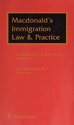 Macdonald's Immigration Law & Practice: Supplement (Z000050746675) By Ronan Toa • 15£