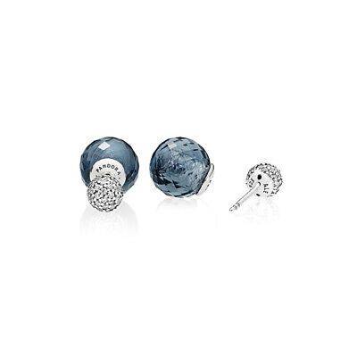 Genuine UK Pandora Midnight Blue Bright Drop Gleam Earrings 296355NBC • 20.59£