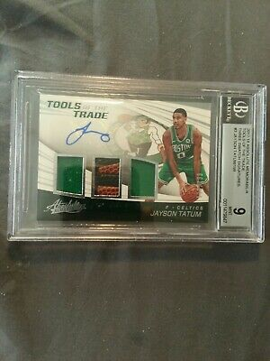 AU521.52 • Buy 2017 Jayson Tatum Absolute Memo. Bgs 9 Tools Of The Trade 112/199  3 Swatch Au.