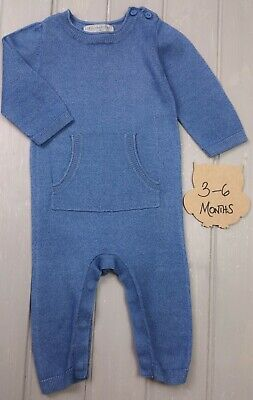 £13.99 • Buy STELLA MCCARTNEY By GAP Boys Blue Knitted Romper All In One Outfit 3-6 Months EC