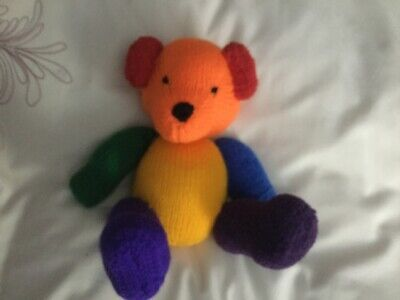 PATCH  From  My Rainbow Of Teddies. Hand Knitted. Baby Safe Filling  • 10£
