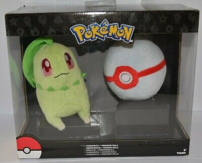 Chikorita + Premier Ball Pokemon Plush Dolls Toys Authentic Official TOMY NEW • 29.99£