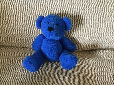 BLOO  From  My Rainbow Of Teddies. Hand Knitted. Baby Safe Filling  • 9£