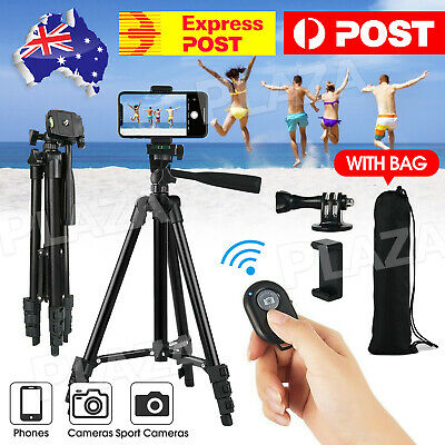 AU15.95 • Buy Professional Camera Tripod Stand Mount Phone Holder For IPhone DSLR Travel AU