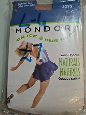 Mondor Ice Skating Over Boot Cover Tights 3372 - Size L-G - Colour Suntan • 3.50£