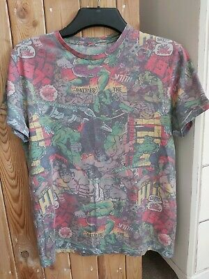 Mens Multicoloured  T Shirt  The Incredible Hulk Size M By Cedar Wood State. • 1.25£