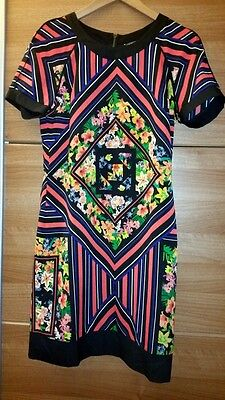 Marks & Spencer WOMEN Limited Abstract Floral Shift Dress SIZE S 8 NEW WITH TAG • 14.99£