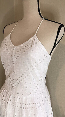 NWT Tommy Hilfiger Women's White Floral Eyelet Lace Dress Size 2 • 14.19£
