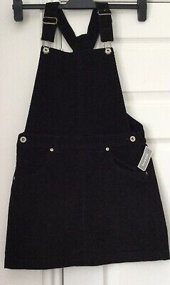Bnwt DEBENHAMS BLUE ZOO GIRLS PINAFORE AGE 12 BLACK CORDUROY  • 8.95£