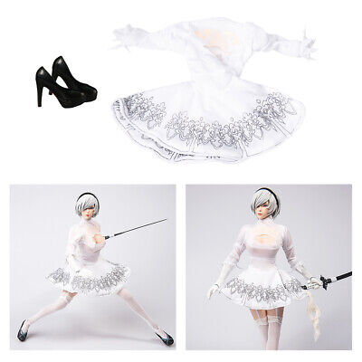 $25.39 • Buy 1/6 Lady White Dress W/ High Heel Shoes For DML DID Enterbay Accessory