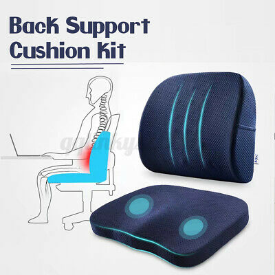 AU29.99 • Buy Lumbar Cushion Back Support Memory Foam Office Home Chair Car Seat Travel Pillow