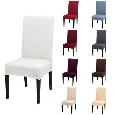 AU19.49 • Buy 1/4/6/8Pcs Stretch Dining Chair Covers Slipcover Spandex Wedding Cover Protector