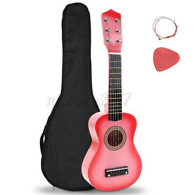 Childrens Guitar Childs Kids Wooden Plastic Acoustic Musical Instrument Toy Pink • 11.99£