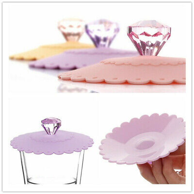£7.98 • Buy Anti-dust Silicone Cup Lid Glass Drink Cover Coffee Mug Suction Seal Cap 6PCS