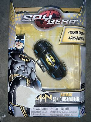 Spy Gear, Batman Sonic Distractor Sounds Toy Spinmaster Red Light Button NIB • 8.51£