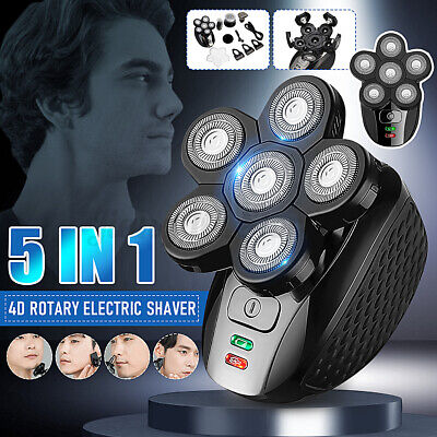 AU40.34 • Buy 5 IN1 4D Rotary Electric Shaver Bald Head Shaver Beard Trimmer Rechargeable