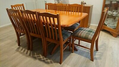 AU10 • Buy Timber Extendable Dining Table With 8 Chairs