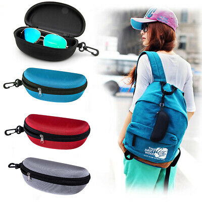 AU6.99 • Buy Portable Zipper Eye Glasses Box Sunglasses Protect Hard Case Storage Box Holder