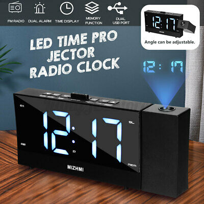 AU33.53 • Buy 1.8  Projector LED Digital Alarm Clock FM Radio Table Time Display Projection