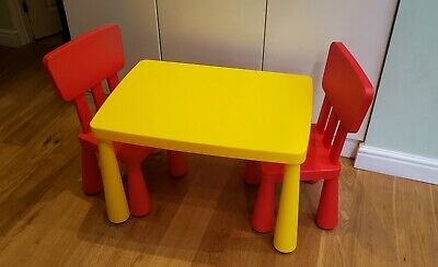 IKEA Mammut Children's Kids Table And Chairs Set • 20£