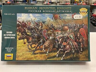 Zvezda 1:72 Scale Russian Mounted Knights XIII-XIV A.D. Figures • 14.99£