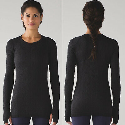 $ CDN75.10 • Buy Lululemon Rest Less Pullover Top Textured Black Size 10 Womans M