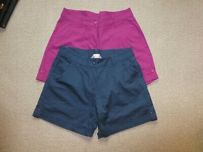 2 X Pairs Of Mountain Warehouse Size 12 Ladies Shorts Cerise Navy Immaculate • 4.19£