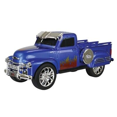 $ CDN58.44 • Buy QFX 1953 Chevy On The Go LED + Sound Bluetooth Wireless USB Double Speaker Blue