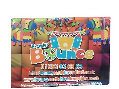 £44.95 • Buy Digitally Printed Bouncy Castle Safety Crash Mats - Advertise Your Business!!
