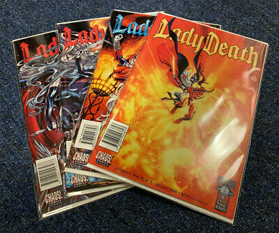 Lady Death: Judgement War 1 - 3 + Prelude ~ Chaos! Comics ~ Excellent Condition • 25£