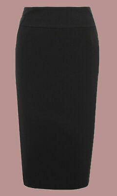 £9.95 • Buy Ex M*S Black Knee Length Lined Panelled Work Pencil Skirt Size 8 - 18 (W3.17)