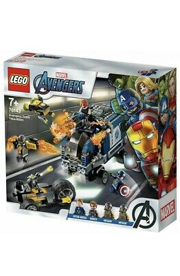 LEGO Super Heroes Marvel Avengers Truck Take-down Set 76143 Age 5+ 477pcs Toy • 35£