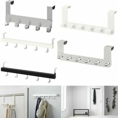 Ikea Wall Over Door Hooks Knobs Clothes Bags Coats Towels Hanger For Bathroom • 8.95£