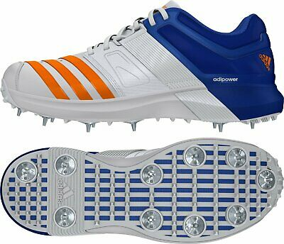Adidas Adipower Vector Orange/Blue Spikes Cricket Shoes • 78.27£