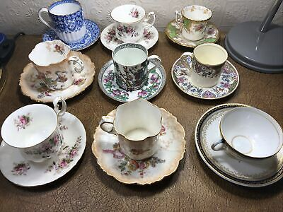 Collection Of Vintage Bone China Teacup And Saucers • 16£