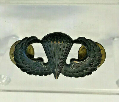 $29.95 • Buy Vtg WWII US Military Paratrooper Airbourne Jump Wings Pin Badge Parachute