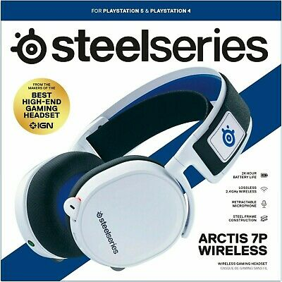 AU136.27 • Buy New! SteelSeries Arctis 7P Wireless Gaming Headset For PlayStation 5 - White