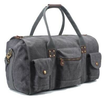 $22 • Buy 🚨SUVOM Canvas & Leather Duffle Bag Weekender Carry On Bag 🇺🇸