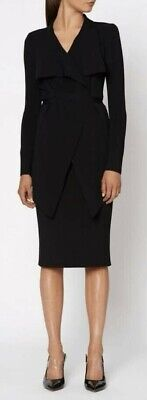 AU350 • Buy Scanlan Theodore Black Crepe Knit Drape Jacket L
