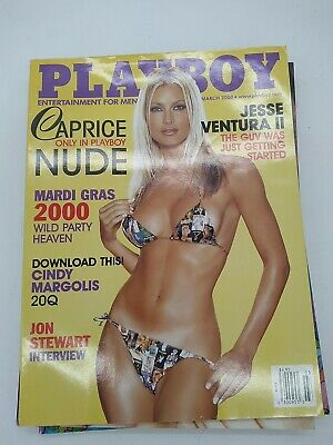 $ CDN13.62 • Buy Back Issue March 2000 Playboy Magazine ~ Caprice Cover & Nude ~ Nicole Lenz