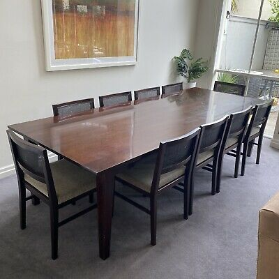 AU713 • Buy 10 Seater Dining Table And Chairs 2.8m