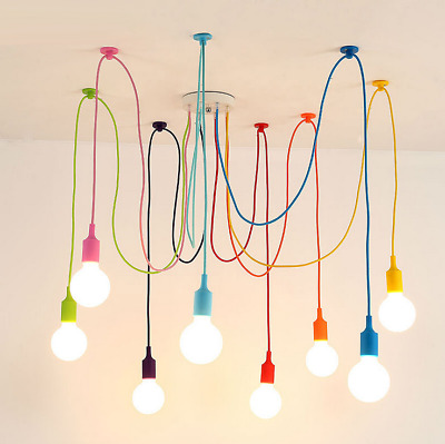 £31.99 • Buy DIY E27 Colorful Haning Light Chandelier Spider Ceiling Fixture Nordic Art Lamp