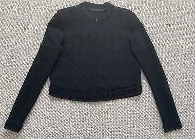 AU49 • Buy Scanlan Theodore Black Crepe Knit Textured Crop Jacket - Size Ml
