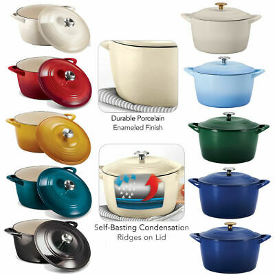 $ CDN78.35 • Buy Tramontina Enameled Cast Iron 7-Quart Covered Round Dutch Oven (Assorted Colors)