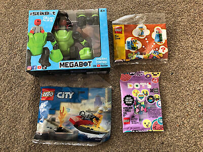 New Stikbot Megabot & Lego Bundle 30548 Lego City 30368 Dots 41908 Toys • 4.20£