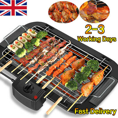 £25.79 • Buy Electric Grill Table Top BBQ Barbecue Garden Camping Cooking 2000W Indoor Or Out